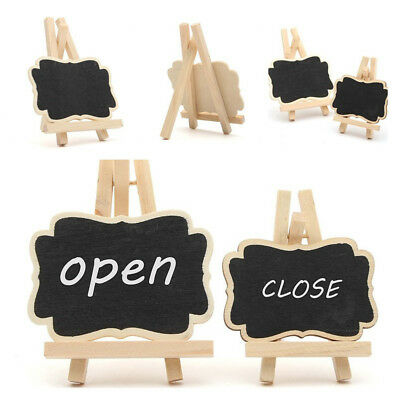 10* Message Wooden Blackboard Note Sign Message Chalk Creative Board Table Top
