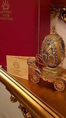 Imperial FABERGE EGG Russian REAL egg HANDMADE wedding proposal Musical carriage