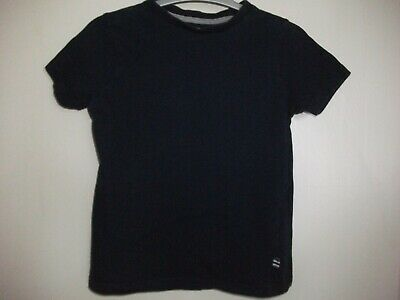 Boys Navy Blue Short Sleeved T- Shirt Top with a Ribbed Collar - Age 5-6 y/o