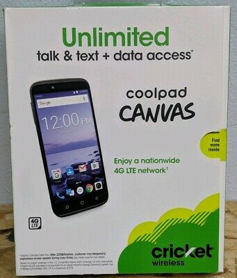 CRICKET WIRELESS COOLPAD canvas smartphone - $42 99 | PicClick