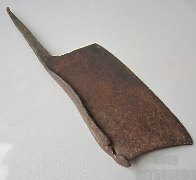 antique > primitive Butcher Chef Meat Cleaver Chopper Hatchet > hand forged tool
