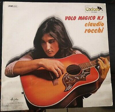 Claudio Rocchi ‎– Volo Magico N.1 Lp 1977 Reissue Oxford Ariston OX/306 VG+
