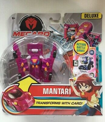 Pink Transforms With Card Mecard Deluxe Mecardimal Mantari Action Figure