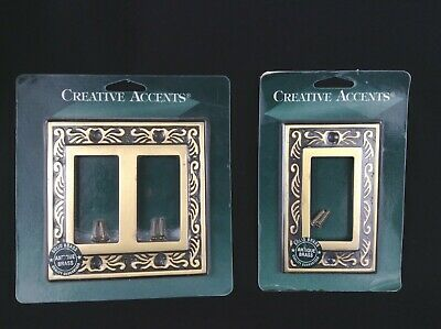 Solid Brass Victorian wall plates switch plate outlet  creative accents NEW