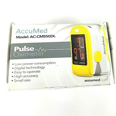 Accumed Pulse Oximeter Sp02 Finger Blood Pulse Oxygen Monitor W/Carrying Case