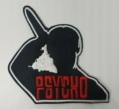 Psycho Horror Movie embroidered Patch 3 1/2 inches tall