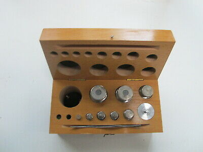 VINTAGE cobos Assorted Balance SCALE Jewerly WEIGHTS IN WOOD BOX 1-100g