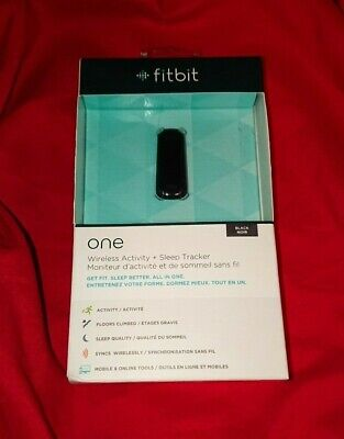 *LOW PRICE*! NEW Fit Bit FitBit ONE Black Wireless Activity Sleep Tracker + Clip