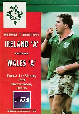 IRELAND 'A' v WALES 'A' 1996 RUGBY UNION