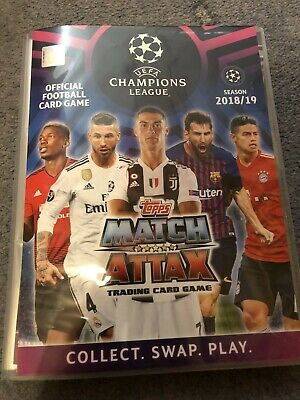 Match Attax Champions League 2018/19 Full Set Of 329 Base Cards In Binder Mint