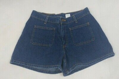 VTG 80s Women's Levis High Waisted Shorts Size 8 Black Tab Medium Blue Wash