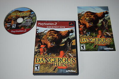 Cabela's Dangerous Hunts Greatest Hits Playstation 2 PS2 Video Game Complete