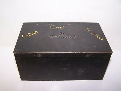 Vintage Original Metal Case Box For Willson Welding Safety Goggle