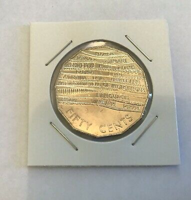 Australian 50 cent Coin - International Year Of Indigenous Languages- UNC In 2x2