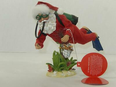 "Scuba Santa Figure by JC Penney HOME Collection, 10"" , Fabric Mache, GC"