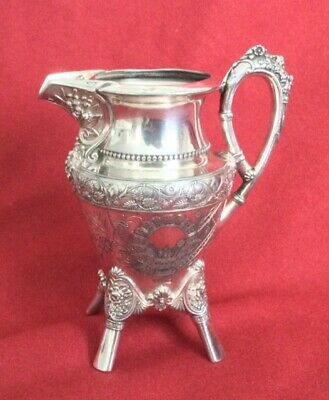 Vintage silverplate pitcher decorative cream server