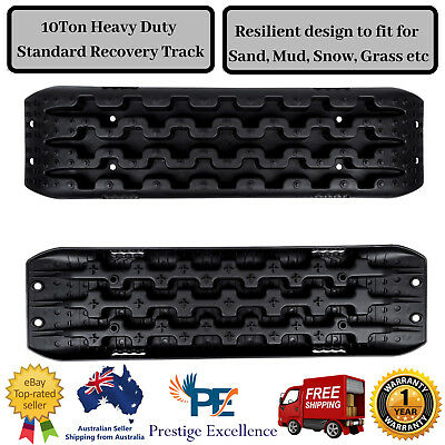 Recovery Tracks Sand Off Road Tyre ATV Offroad Snow Mud Board 10Ton UV Black 2x
