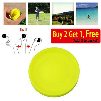 Zip Flying Disc Chip* Mini Pocket Flexible UFO Saucer Spin in Catching Game AM2