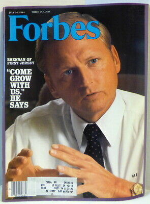 Forbes Magazine July 16, 1984 Brennan Of First Jersey