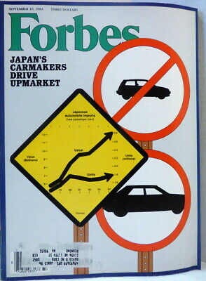 Forbes Magazine September 10, 1984 Japan;s Carmakers Drive Up Market