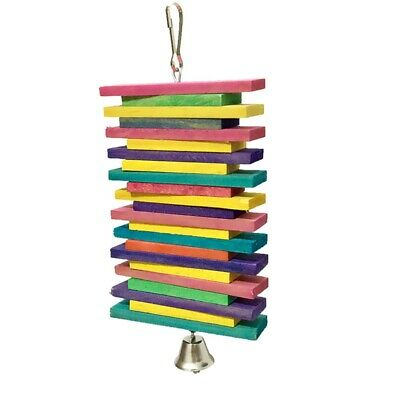 Bird Chew Toy Hanging Wooden Knot Blocks Bite Parrot Large Cage Bird's Toy
