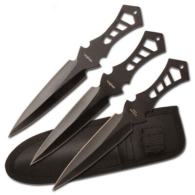 Perfect Point Black Throwing Knives Set - 3 Pk knife
