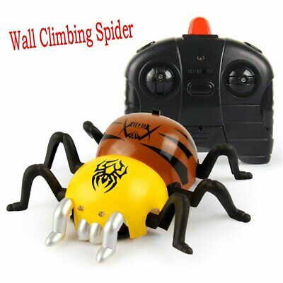 Remote Control Wall Climbing Spider Toy Halloween Prank Realistic Scary Trick TN