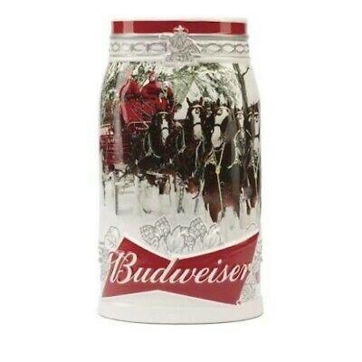 2017 Budweiser Holiday Stein Christmas Beer Mug Annual series, 31 ounce