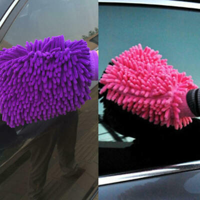 Car Wash Washing Microfiber Chenille Mitt Auto Cleaning Glove Dust Washer UOD