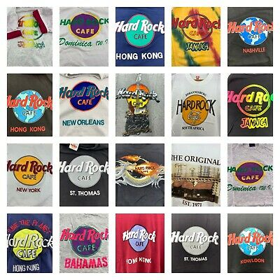 6b7377c9 Vintage Hard Rock Cafe Shirt Graphic Logo U Choose Jamaica New York Hong  Kong
