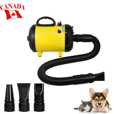 Adjustable 2-Speed Grooming Pet Hair Dryer Dog Cat Animal Air Blower W/ 3 Nozzle