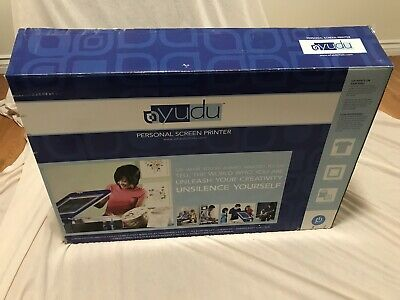 YUDU Personal SCREEN PRINTER # 62-5000 Great for T Shirts Crafts Schoolwork