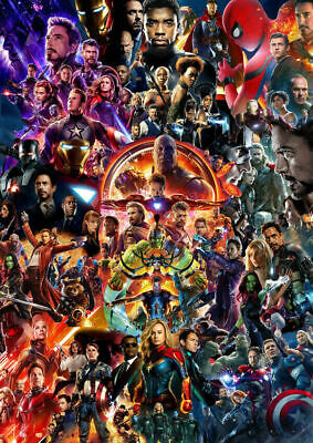 Hot Avengers Endgame Movie 22 Marvel Universe Collage Iron Man Poster 8x12 12x18