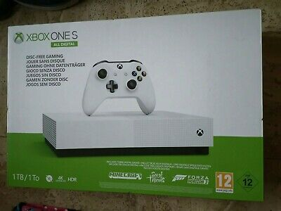 Xbox One S All Digital No Disk 1Tb 1To 4K Hdr + 3 Jeux Inclus - Neuf Scelle