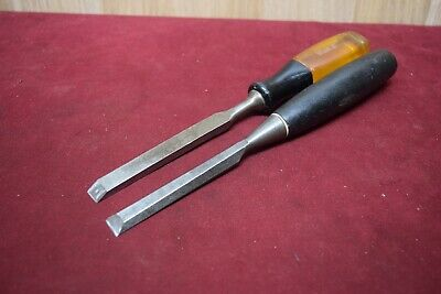 Vintage Stanley  Bevel Edge & Mortice Chisels Woodworking Old Tools