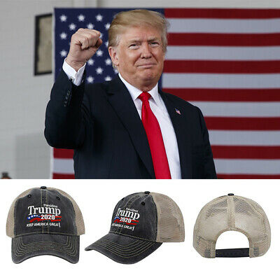 Donald Trump 2020 MAGA Camo Embroidered Hat Keep Make America Great Again Cap nm