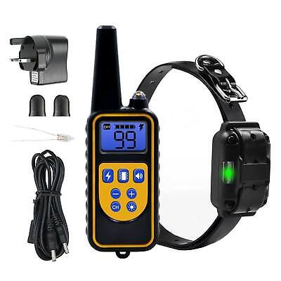 Waterproff Pet Dog Training Collar Rechargeable Electric Shock LCD Display 800m