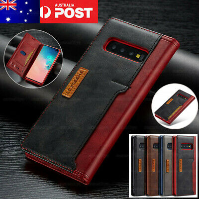For Samsung Galaxy Note 10 Plus 5G S10+ S9 S8 Case Magnetic Leather Wallet Cover