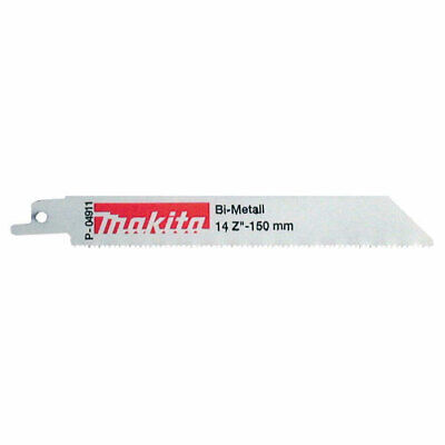 Makita Metal Reciprocating Saw Blades 150mm Pack of 5