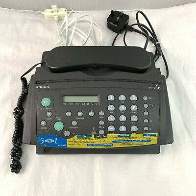 Philips HFC1 171 Fax and telephone Machine With Paper 5 In 1 Black Business