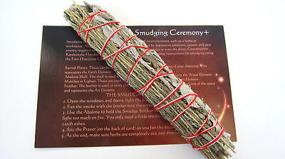 *ONE* White Sage Sagebrush Mix Smudge Stick 8inch Instruction Card Space Cleanse