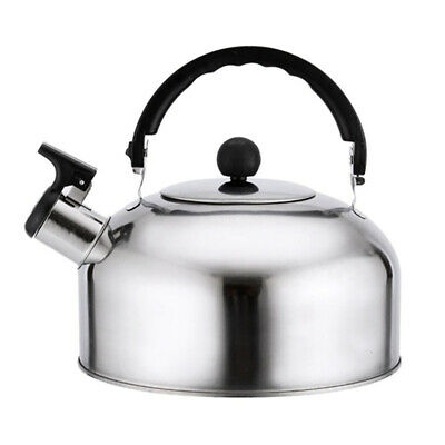3L Stainless Steel Camping Kettle Home Camping Caravan Whistling Kettle  UK