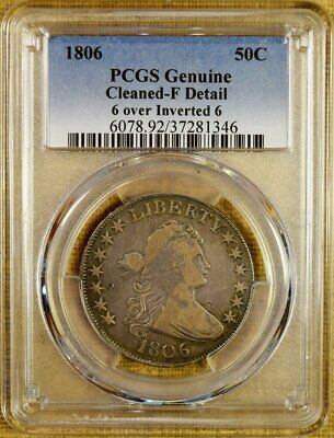 1806/9 6 Over Inverted 6 O-112 PCGS Fine Details Draped Bust Half Dollar