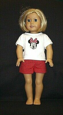 """Handmade Minnie Mouse Shorts Outfit for 18"""" Doll - fits American Girl"""