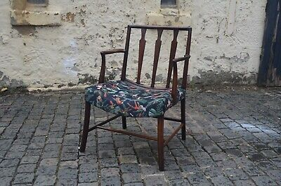 Scarce 18th Century Mahogany Former Cockpen Carver Chippendale Armchair c1780