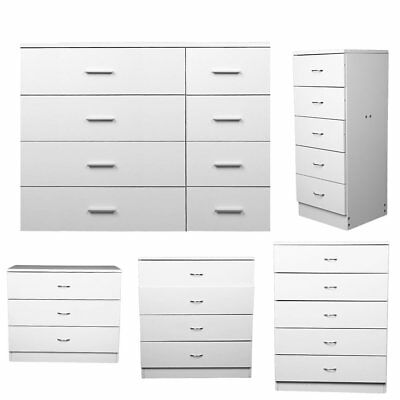 Hove Matt White Modern Chest of Drawers 3 4 5 or 8. Tall Wide Chest of Drawers