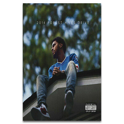 W472 2014 Forest Hills Drive Album Cover Fabric Poster 12x12 24x24 J Cole Art