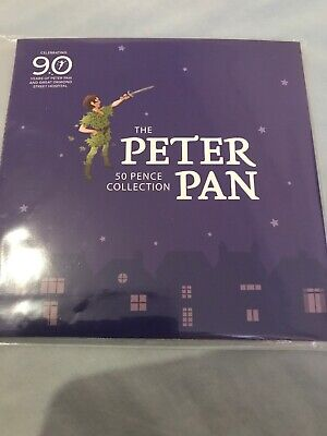 Official Peter Pan 50p Collection Set BUNC Uncirculated Sealed Mint In Pack