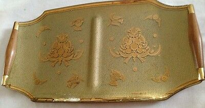 Mid-Century Georges Briard Gold Gild Glass Hostess Serving Platter Tray*