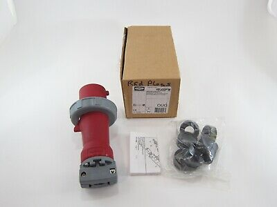 New Hubbell HBL430P7W Pin And Sleeve Plug